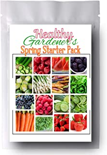 Healthy Gardeners - Combo Pack Raspberry, BlackBerry, Spinach, Strawberry, and More 1,845 Seeds - 21 Varieties