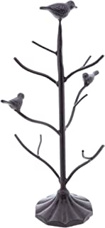 Large Decorative Metal Jewelry Stand with Birds Display