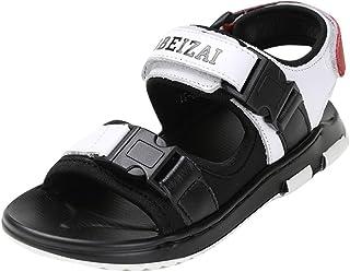 4d9cafad6908bd Navoku Leather Athletic Sandles for Boys Kids Sandals