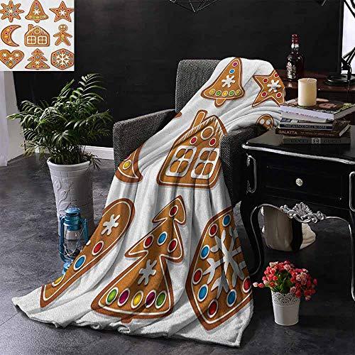 ZSUO bank deken heerlijke zelfgemaakte koekjes gedroogd fruit en bakkerij gereedschap feestelijke rustiek warm & hypoallergeen wasbare bank/bed gooien