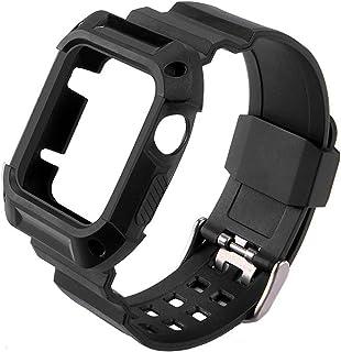 ZAALFC Banda de Reloj de Goma TPU con Estuche Protector para iWatch para la Banda de Reloj de Apple 40/44/38 / 42mm Pulser...