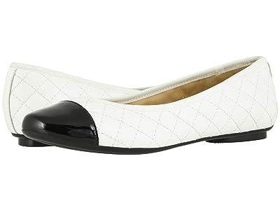 Vaneli Serene (White Nappa/Black Patent) Women