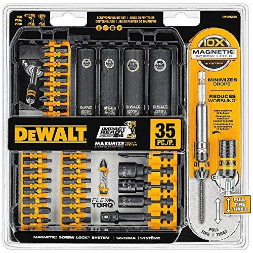 DEWALT Screwdriver Bit Set, Impact Ready, FlexTorq, 35-Piece (DWA2T35IR)