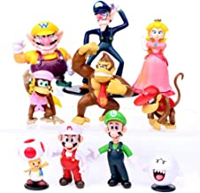 Super Mario Brothers Cake Toppers Toy, 10 Pcs Super Mary Action Figures Palyset with Princess, Mushroom, Orangutan