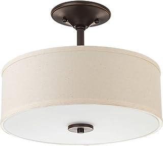 Progress Lighting P3683-2030K9 Inspire One-Light Led Semi-Flush, Antique Bronze