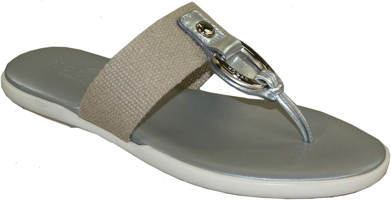 Hogan Pantoletten Pantoffeln schuhe Sandals Damen Silber Beige Beige  limitierte Auflage, beschränkte Auflage