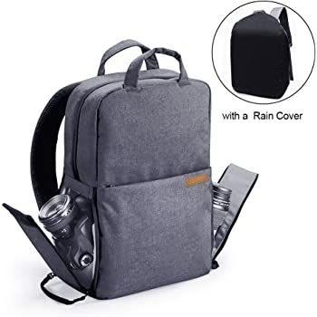 Women Men DSLR Camera Backpack Bag with Laptop Compartment 14 for Photographers//Nikon Sony Canon Mirrorless Cameras Tripod Accessories Camera Case Backpack Waterproof with Side Access