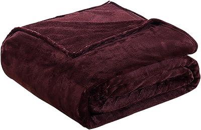 Vosarea Thick Blankets Flannel Fleece Blanket Lightweight Warm Bed 79x91inch 200x230cm Dark Coffee