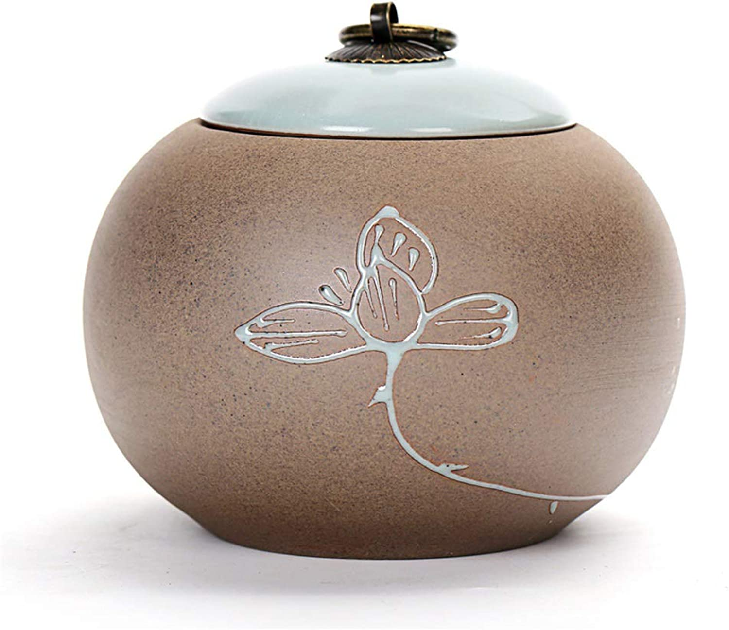 Cremation Urn, Memorial Urns for Human or Pet Ashes, Ceramics Funeral Urn Suitable for Cemetery Burial or Niche,D