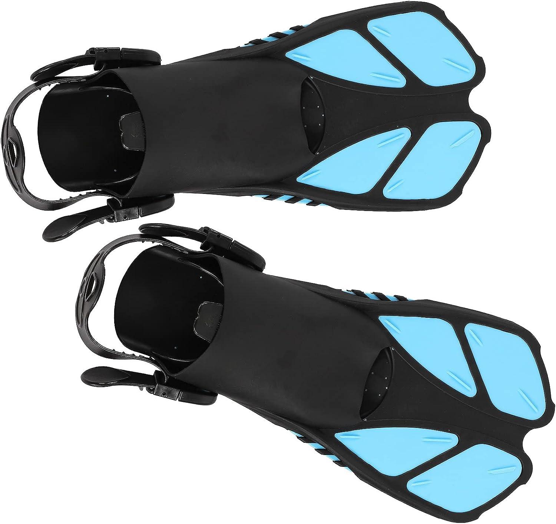 Velaurs Diving Fins, 1 Pair Adjustable Anti‑Skid Open Heel