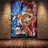 Kingkoil Ánime Japonés Demon Slayer Pintura De Lienzo Poster Poster Prints Decoración Para El Hogar ...