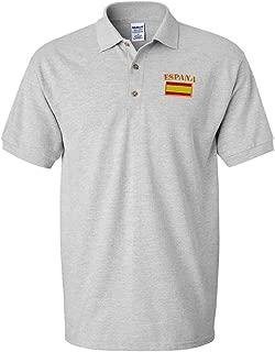 Polo Shirts for Men Spain Espana Flag Embroidery Cotton Short Sleeves Golf Tees