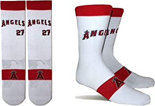 PKWY by Stance Men's 2-Pack Los Angeles Angels & Mike Trout #27 Player Uniform Socks