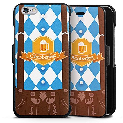 DeinDesign Cover kompatibel mit Apple iPhone 6s Lederhülle Handyhülle mit Klappe Klappfunktion Flip Case Oktoberfest Lederhose Bier