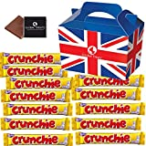 Cadbury Crunchie 40g - 12 FULL SIZE 40g bars of delicious Cadbury Chocolate in a unique Gift Box and a free British Chocolate.