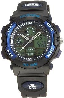 7d57f5c93 Pasnew reloj 50M impermeable Unisex niños niñas hora Dual LED Digital  analógico deportes reloj de pulsera