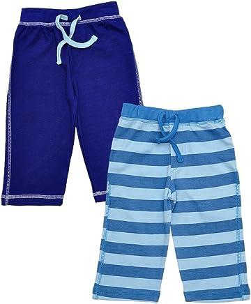 Baby Boys Soft Cotton Plain & Stripe Elasticated Waist Twin Pack Short Set. Sizes:6-24 Months