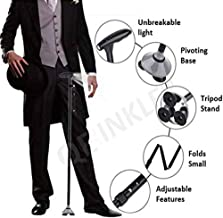 STOP 'N' BUY Portable Aluminium Alloy Handle Dependable Professional LED Light Folding Walking Stick For Old Gentleman, walking sticks for old people