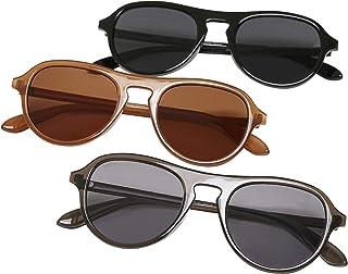 Urban Classics Sunglasses Kalimantan 3-Pack Gafas, marrón, gris, negro, Talla única (Pack de 3) Unisex adulto