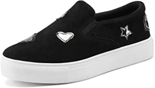 DREAM PAIRS Girls Casual Sneakers Slip-on Loafer Shoes