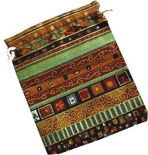 Guangcailun Stile Etnico Unisex stpa Cotone Lino Bagagli Bag Small Custodia Piccolo Coulisse Raccoglitore del cbiento Jewe...