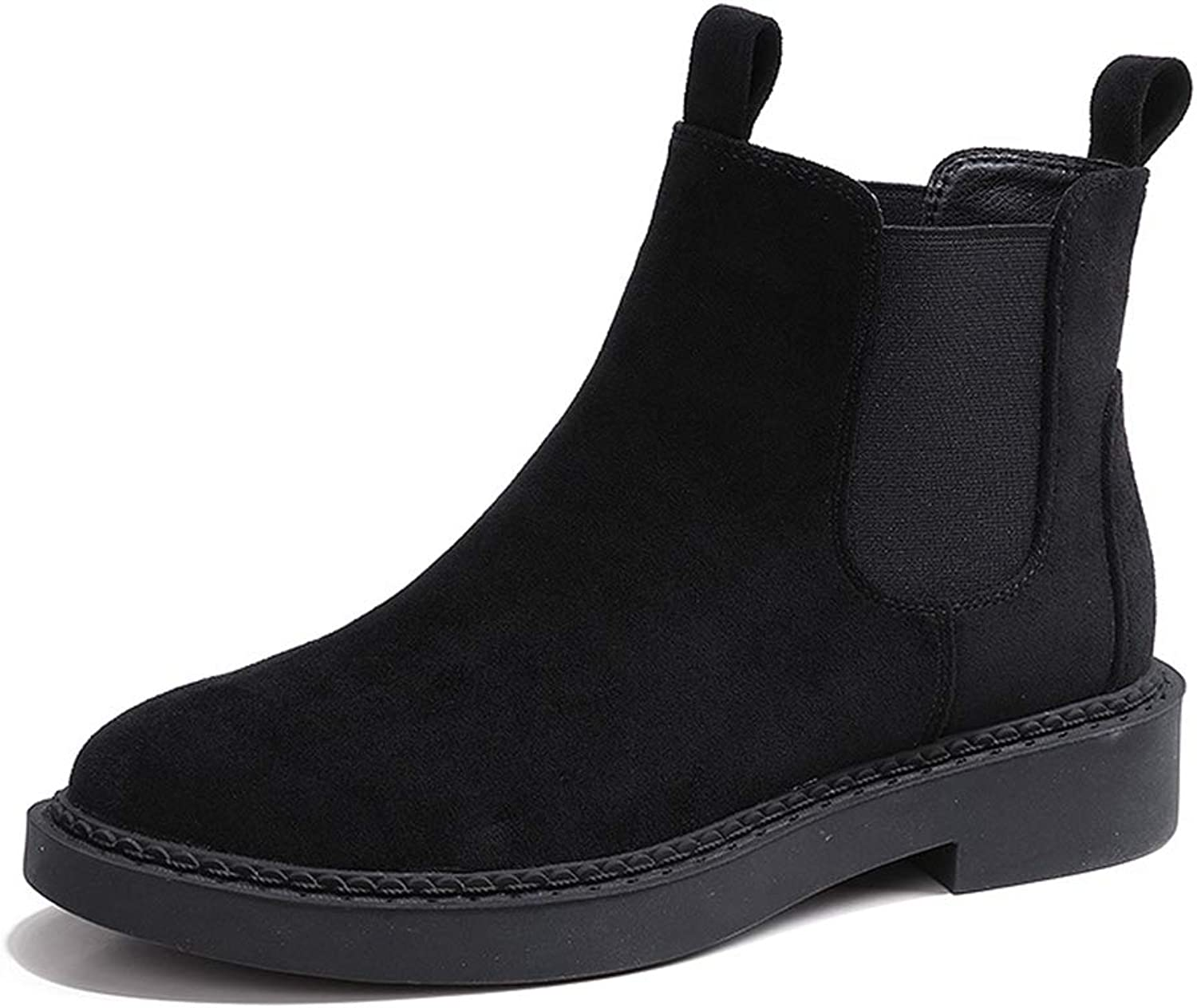 Kyle Walsh Pa Women's Winter Velvet Warm Low Heel Boots, Version of Wild Ankle Boots
