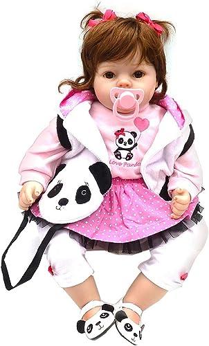 Nick & Ben Mini poupées de bébé 50 cm pour fille avec motif panda