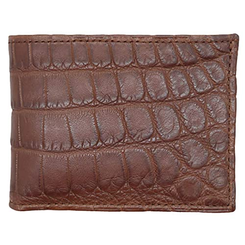 Red Shiny Glazed Genuine American Alligator 5 Pocket Card Case MADE IN USA