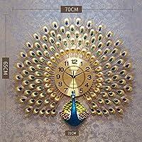 qwertyuio 居間の壁時計壁時計ヨーロッパの創造的な孔雀の壁時計サイレント時計居間の寝室のホームオフィスのための現代装飾的な壁時計、02