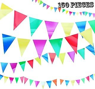 Multicolor Bandiera di Pennant,Bandierine Feste ,Multicolore Triangolare Nylon,Bandierine Triangolari Colorate,Bandierine Feste Festoni,Multicolore bandierina,bandiere Nylon striscioni