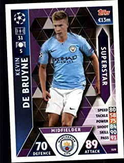2018-19 Topps UEFA Champions League Match Attax Superstars #SU9 Kevin De Bruyne Manchester City FC Official Futbol Soccer Card