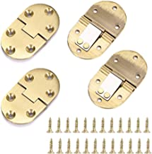OwnMy Solid Brass Hinge, Drop Front Desk Drawer Butt Hinge for Table Sewing Machine,Doors and Folding Table with Screws (90 Degree - 4 PCS)