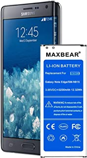 Note Edge Battery,MAXBEAR 3200mAh Li-Ion Replacement Battery for Samsung Galaxy Note Edge SM-N915 N915U LTE,N915V(Verizon),N915T(T-Mobile), N915A(at&T),N915P(Sprint) [12 Month Warranty]