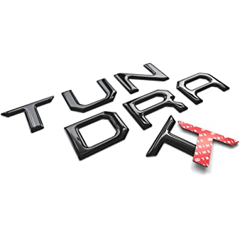 BDTrims Tailgate Domed 3D Raised Letters Compatible with 2014-2020 Tundra Models (Glossy Black)
