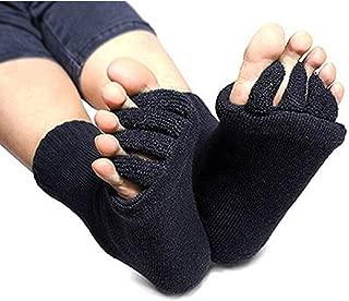 ReachTop Black Yoga Five Toe Separator Socks Foot Alignment Stretch Sports Socks