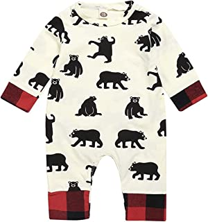 KONIGHT Infant Baby Boys Girls Long Sleeve Romper Cute Animal Jumpsuit Autumn Outfit Clothes