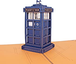 Thank You 3D Greeting Cards - TARDIS of DOCTOR WHO,Encouragement Card,Birthday Card,Graduation Card,3D Pop Up Card,Birthday Gifts by AITpop(5Pack)