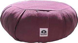 Waterglider International Organic Cotton Meditation Cushion by Organic Cotton Stuffing (Plum)