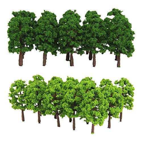 25pcs 1//150 Landschaftsbau Baum Bäume Modelleisenbahn Modellbaum