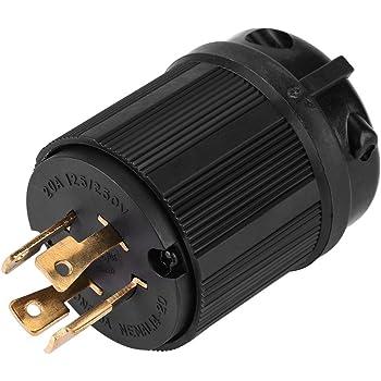 Heavy Duty L14-20R 3P Twist Lock Locking Receptacle Female Device 20A 125//250V