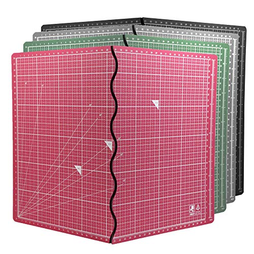 エコ無毒無臭 A2 カッターマット折り畳み式 簡単便利 筆記、絵画、彫刻 多機能 台湾製CNS認證 (淺藍)