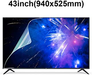 KUYUC Anti Blue Light 43 Inches TV Screen Protector, LED Eye Protection Screen Filter, Ultra-Clear Anti-Glare Screen Protector, LCD Anti-Scratch Filter Film (Color : A)