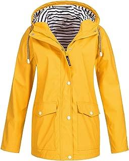 Bofo Waterproof Raincoat Rain Coat Hooded Outwear Jacket S-5XL