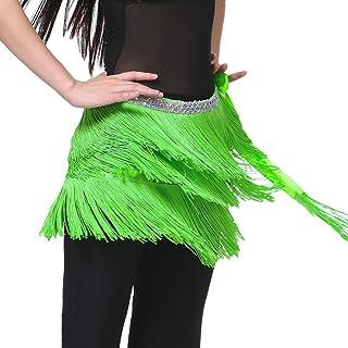 Women's Belly Dance Hip Belt Skirt Tassel Fringe Waist Wrap Skirts