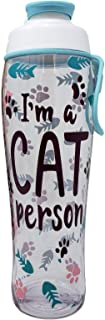 50 Strong Cat Person Water Bottle - 30 oz. BPA Free w/Flip Top Cap - Great Gift for Cat Lady, Woman Who Loves Cats, Friend, Crazy Cat Mom - Gifts for Birthday, Christmas, or Kitten Lover