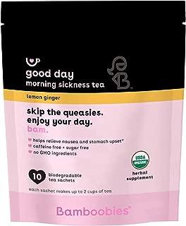 Bamboobies Morning Sickness Relief Tea | Relieve Nausea and Stomach Upset | Lemon Ginger | 10 Tea Bags