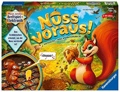 Ravensburger Kinderspiele 21464 - Nuss voraus! - Such- und Findespiel für Kinder ab 4 Jahren