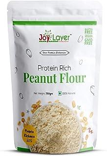 Joy Layer Protein Rich Peanut Flour-750gm (Unsweetened / 55% High Protein / Vegan / Gluten-Free / Non-GMO / Low Fat / Low ...
