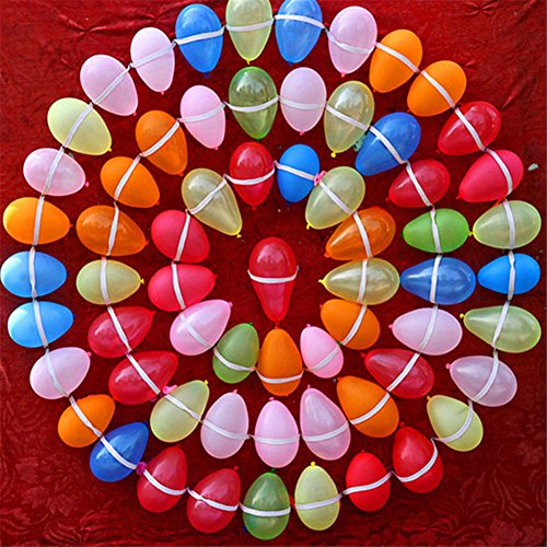 Lot de ballons pour bombes à eau Multicolore Fermeture automatique, Latex, 500pcs, 3''