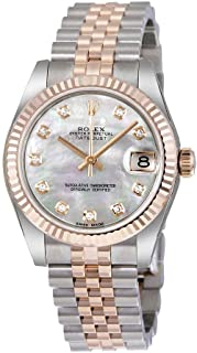 Datejust Lady 31 White Mother of Pearl Dial Stainless Steel and 18K Everose Gold Jubilee Bracelet Automatic Watch 178271MDJ